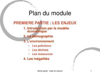 Plan du module