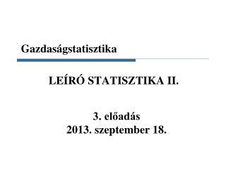 Gazdaságstatisztika