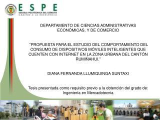 DEPARTAMENTO DE CIENCIAS ADMINISTRATIVAS ECONÓMICAS, Y DE COMERCIO