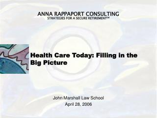Health Care Today: Filling in the Big Picture