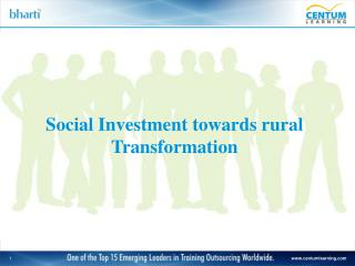 Social Investment towards rural Transformation