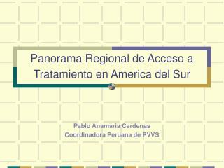 Panorama Regional de Acceso a Tratamiento en America del Sur