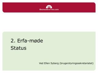 2. Erfa-møde  Status