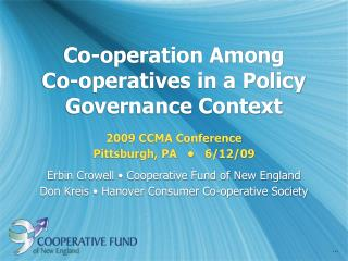Co-operation Among  Co-operatives in a Policy Governance Context