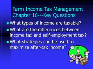 Farm Income Tax Management Chapter 16---Key Questions