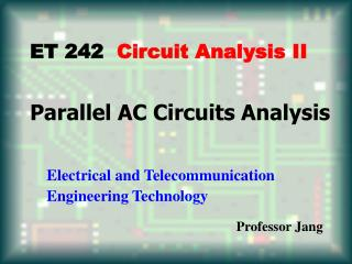 Parallel AC Circuits Analysis