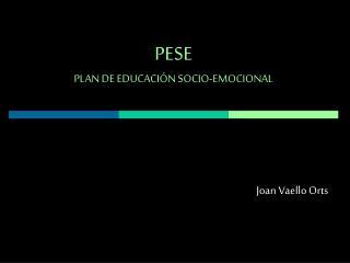 PESE PLAN DE EDUCACI N SOCIO-EMOCIONAL