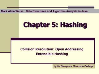 Chapter 5: Hashing