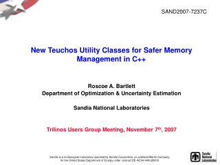 New Teuchos Utility Classes for Safer Memory Management in C