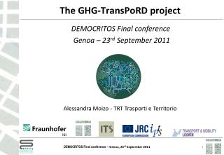The GHG-TransPoRD project