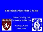 Educaci n Preescolar y Salud
