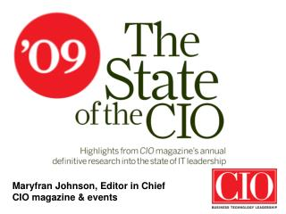 Maryfran Johnson, Editor in Chief CIO magazine & events