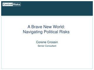 A Brave New World:  Navigating Political Risks