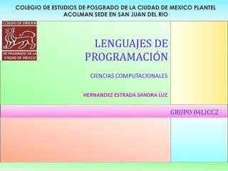COLEGIO DE ESTUDIOS DE POSGRADO DE LA CIUDAD DE MEXICO PLANTEL ACOLMAN SEDE EN SAN JUAN DEL RIO