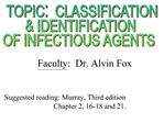 Suggested reading: Murray, Third edition         Chapter 2, 16-18 and 21.