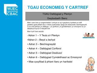 TGAU ECONOMEG Y CARTREF