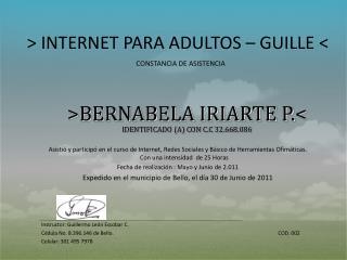 > INTERNET PARA ADULTOS  –  GUILLE <