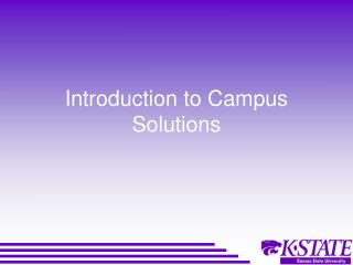 Introduction to Campus Solutions