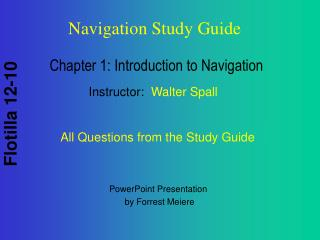 Chapter 1: Introduction to Navigation