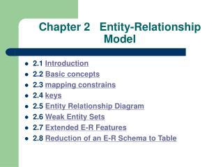 Chapter 2   Entity-Relationship Model