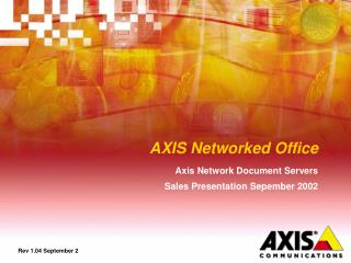 AXIS Networked Office