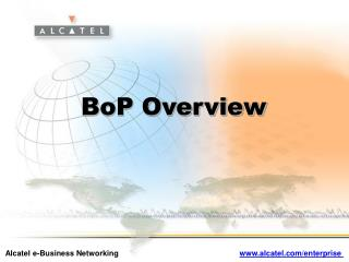 BoP Overview