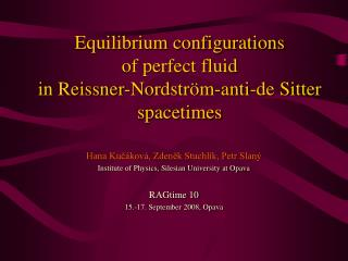 Equilibrium configurations of perfect fluid in Reissner-Nordstr ö m-anti-de Sitter spacetimes