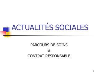 ACTUALIT S SOCIALES