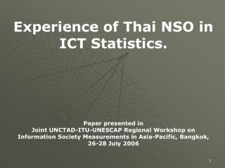 Thailand Decentralized Statistical System