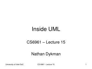 Inside UML
