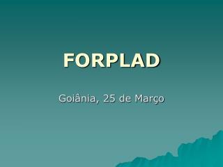 FORPLAD