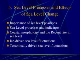5.  Sea Level Processes and Effects of Sea Level Change