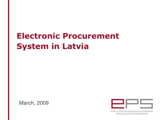 Electronic Procurement System in Latvia
