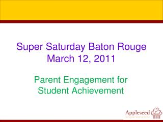 Super Saturday Baton Rouge  March 12, 2011