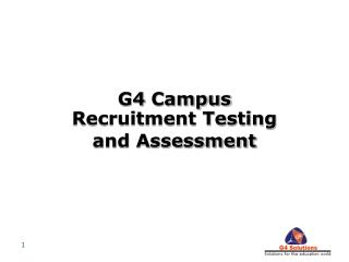 G4 Campus Recruitment Testing and Assessment