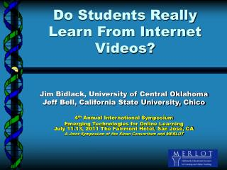 Do Students Really Learn From Internet Videos?