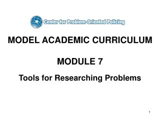 MODEL ACADEMIC CURRICULUM  MODULE 7