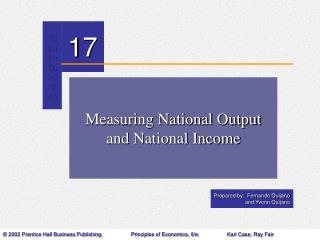 Measuring National Output and National Income
