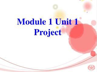 Module 1 Unit 1 Project