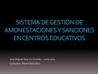 Sistema de gestión de amonestaciones y sanciones en centros educativos