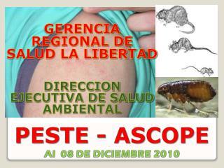 PESTE - ASCOPE  Al  08 DE DICIEMBRE 2010