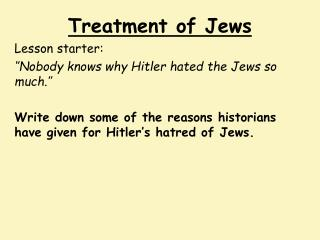 Treatment of Jews