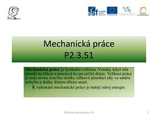 Mechanická práce P2.3.51
