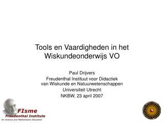 Tools en Vaardigheden in het Wiskundeonderwijs VO