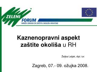 Kaznenopravni aspekt zaštite okoliša  u RH