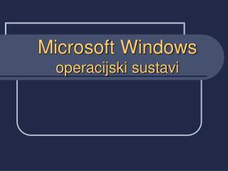 Microsoft Windows operacijski sustavi
