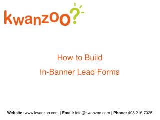 How-to Build  In-Banner Lead Forms