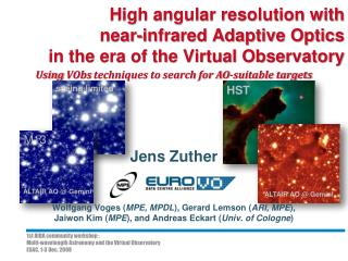 High angular resolution with near-infrared Adaptive Optics in the era of the Virtual Observatory