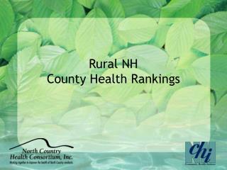 Rural NH  County Health Rankings