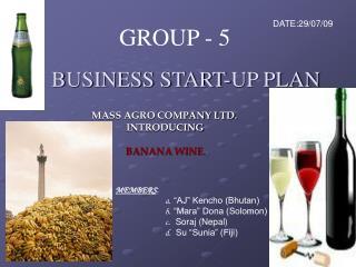 BUSINESS START-UP PLAN